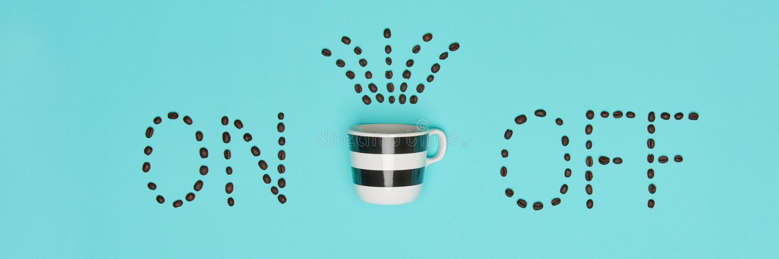 Good Morning Coffee Pastel Coloured Flat Lay. Conceptual Motivation. Cup Of Coffee. Good Morning Coffee Pastel Coloured Flat Lay. Conceptual Motivation. Cup Of royalty free stock images