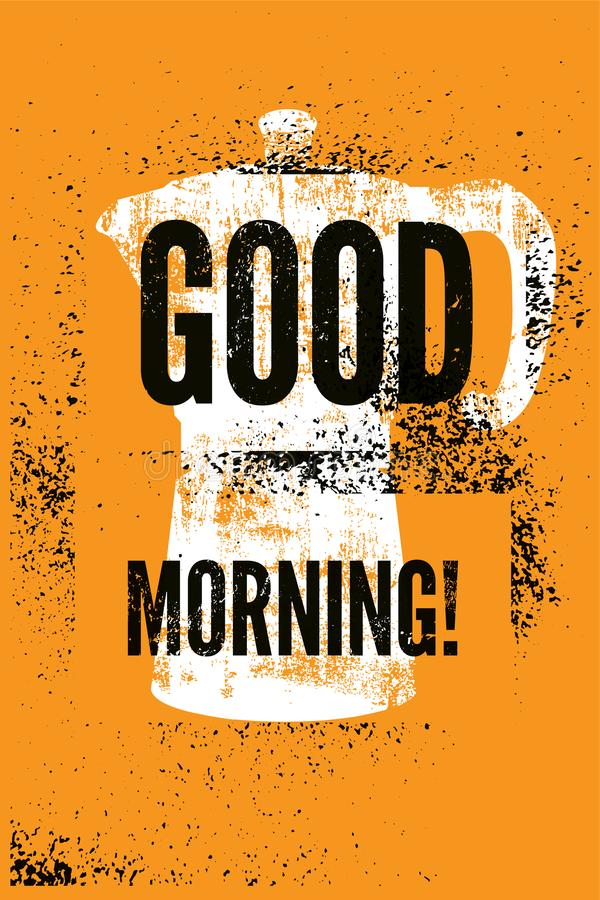 Good Morning Vintage Photos : Good morning coffee typographic vintage style grunge