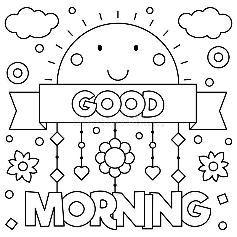 Free Good Morning. Coloring Page. Vector Illustration. Royalty Free Stock Image - 96965816