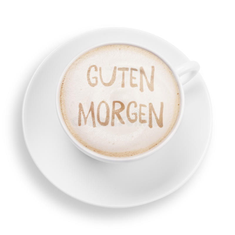 Good morning. Cup with good morning (in german stock image