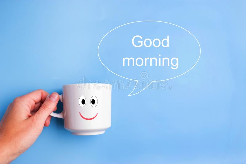 Good morning cup stock photos