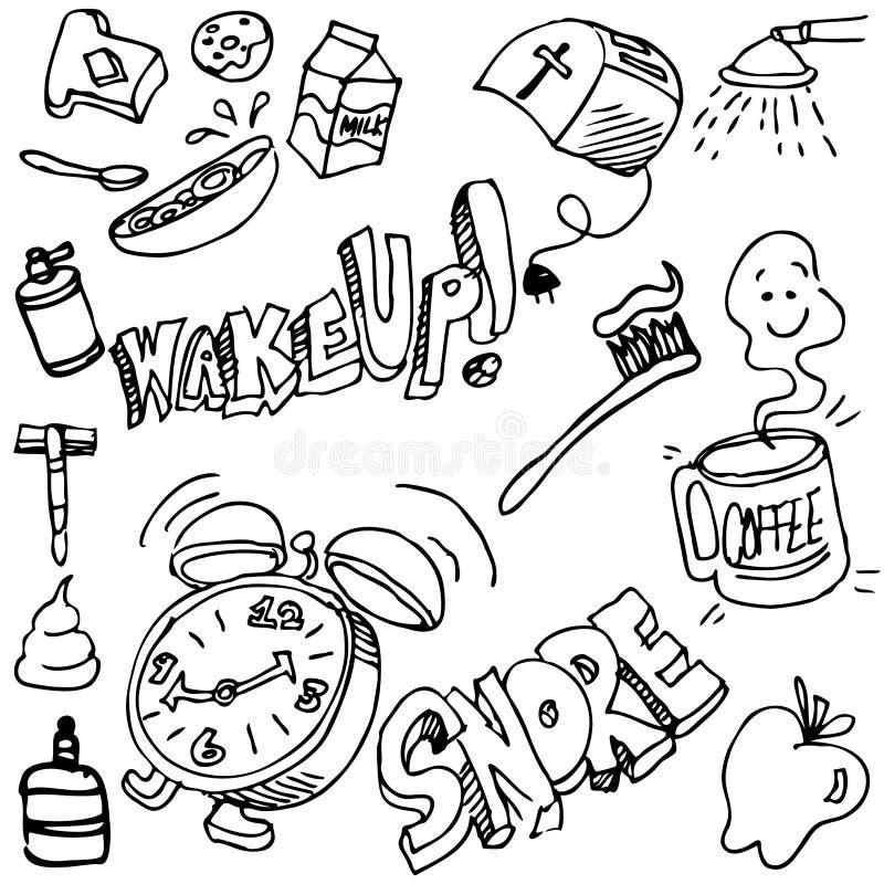 Download Good Morning Drawing Set stock vector. Image of razor - 26673275