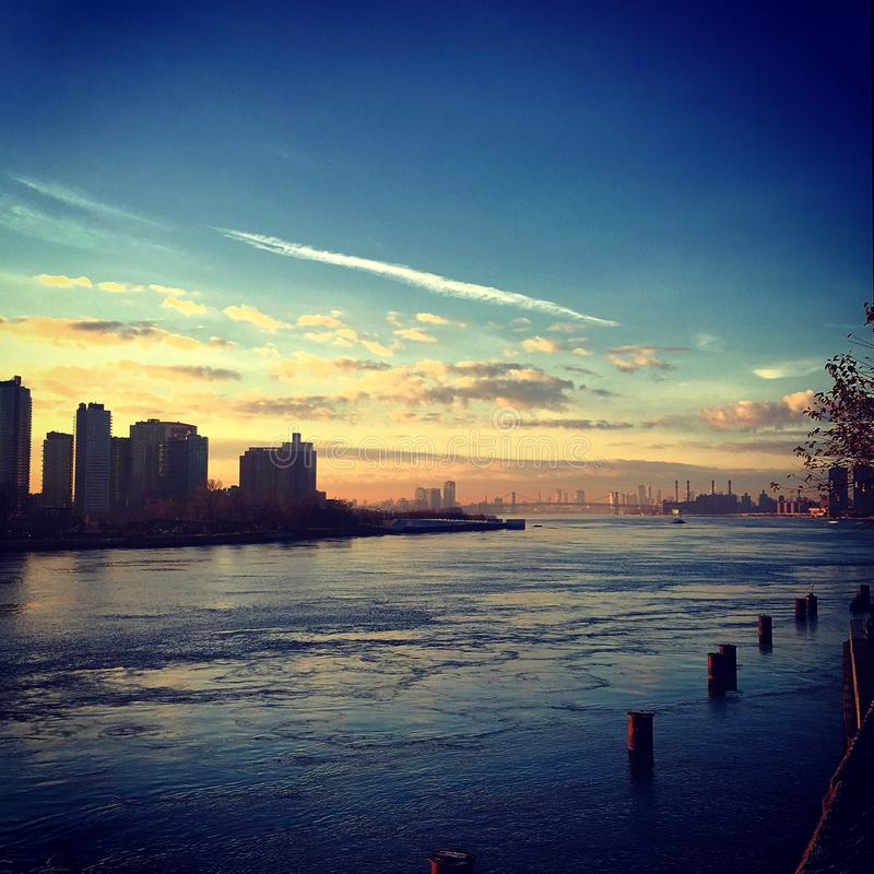 Good Morning East River stock images