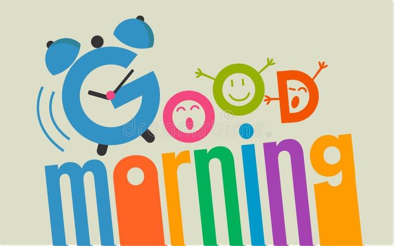 Good morning flat style 2 vector illustration