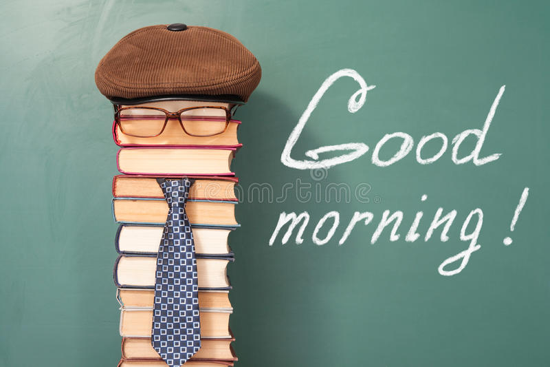 Good morning!. Funny education concept stock photos