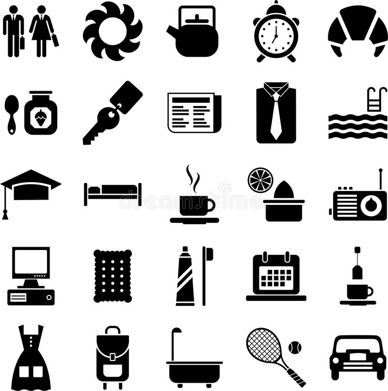 Good morning icons vector illustration