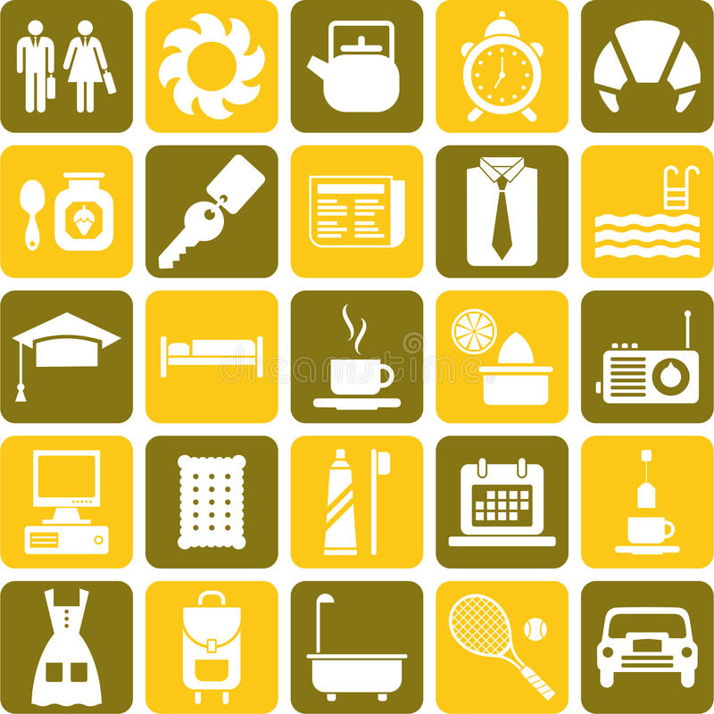 Good morning icons stock illustration