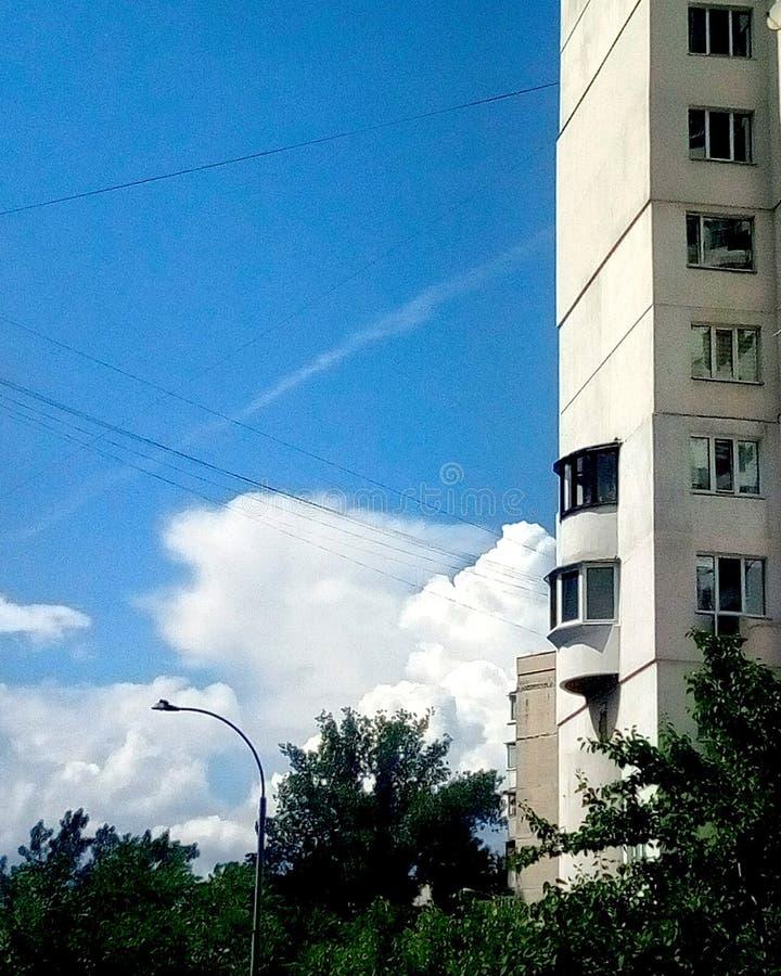 Good morning from Kyiv. Good morning kyiv sky blue stock photos