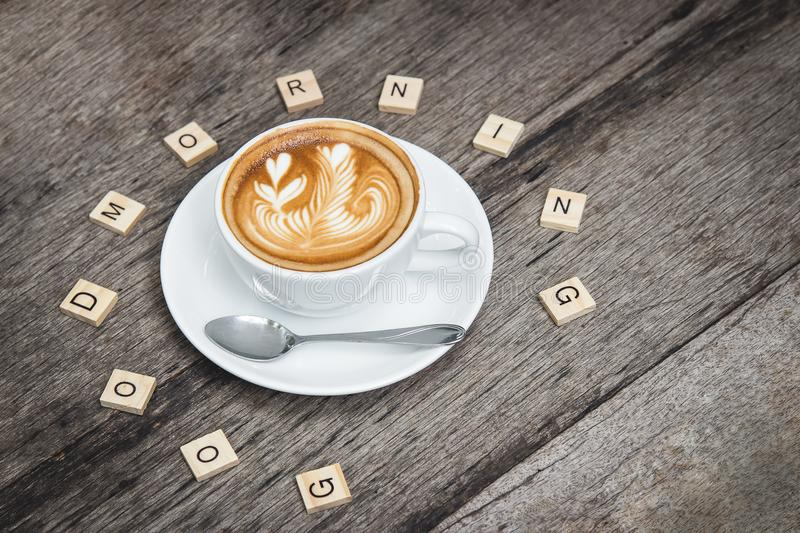 Good Morning Latte royalty free stock images