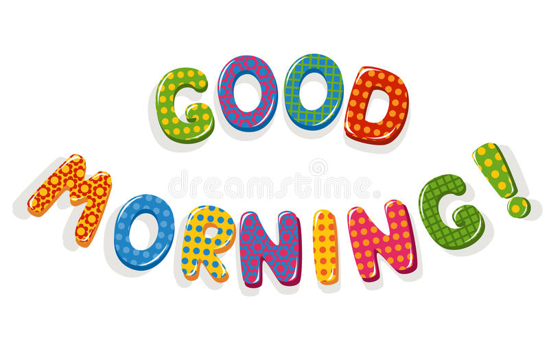 Good Morning letters royalty free illustration