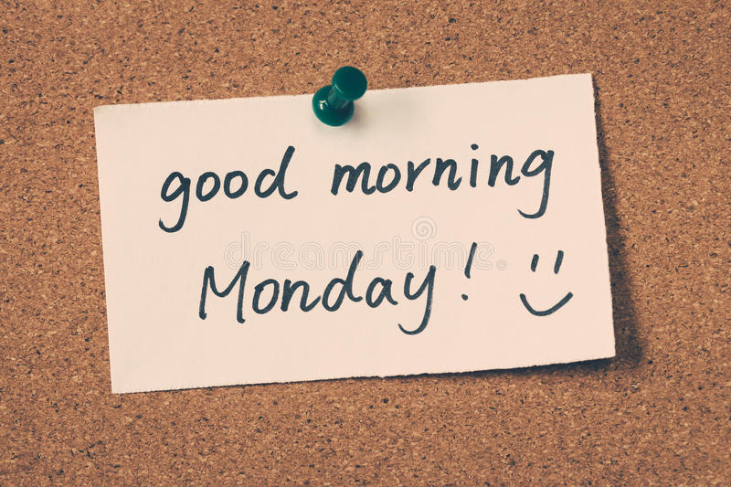 Good morning Monday royalty free stock images