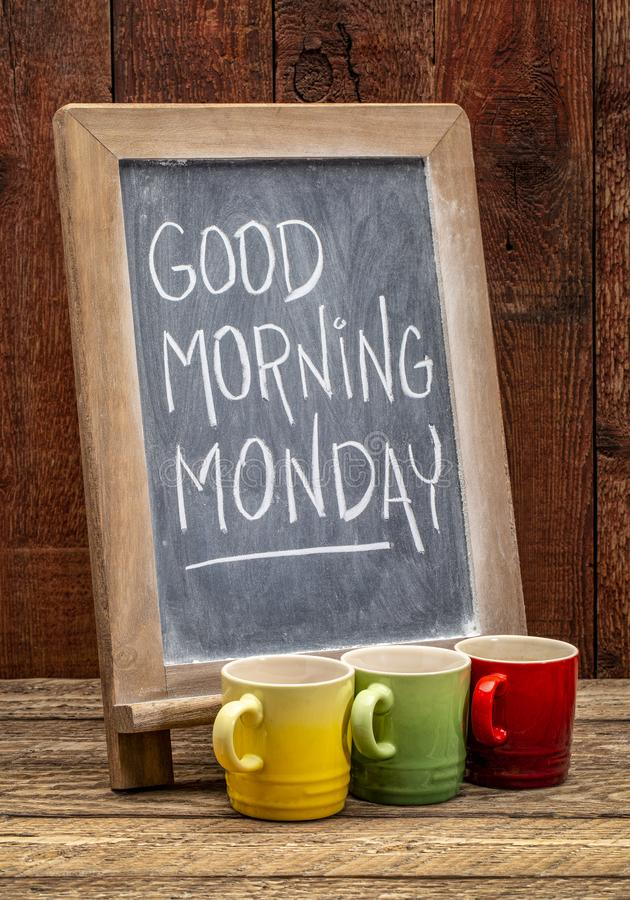 Good Morning Monday sign royalty free stock photo