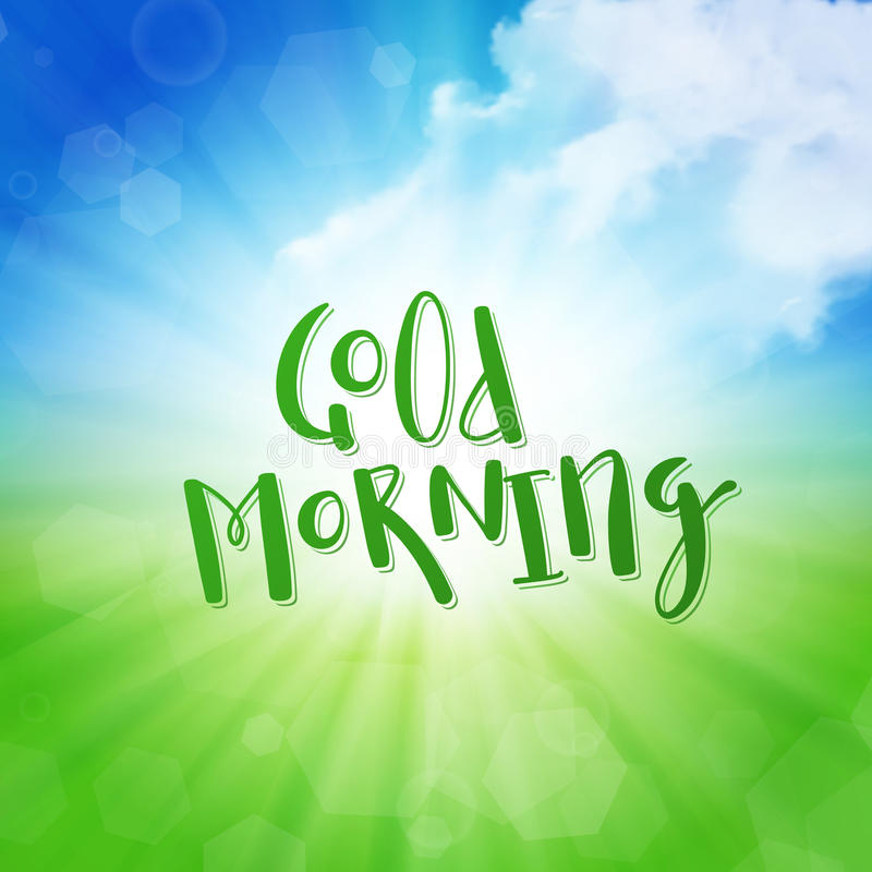 Good Morning royalty free illustration