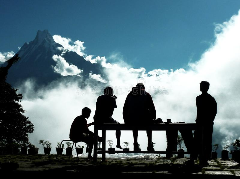 Good morning nepal. One of the most beautiful morning in my favourite country, NEPAL royalty free stock photography