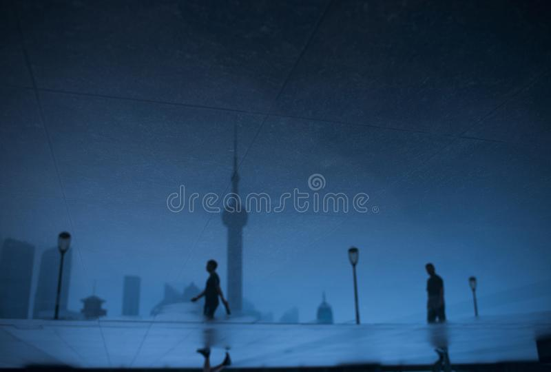 Good Morning shanghai china blue stock photography