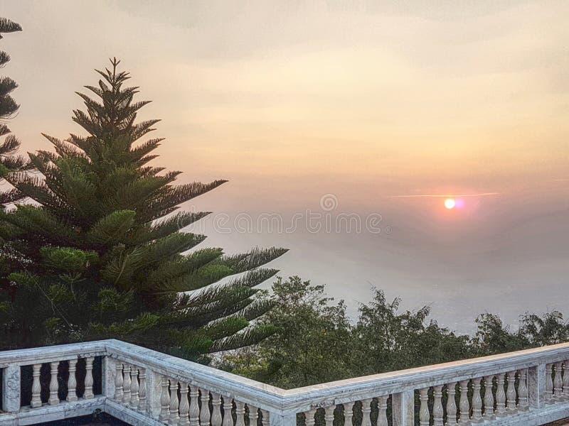 Good morning. Sunset good morning sky tree royalty free stock photo
