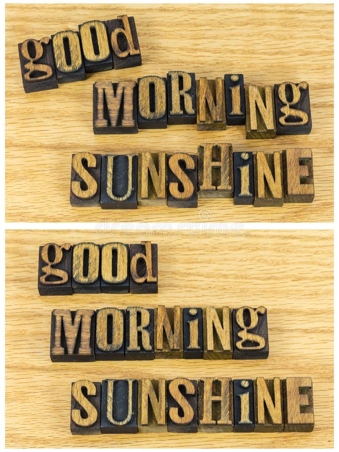 Good morning sunshine inspirational royalty free stock images