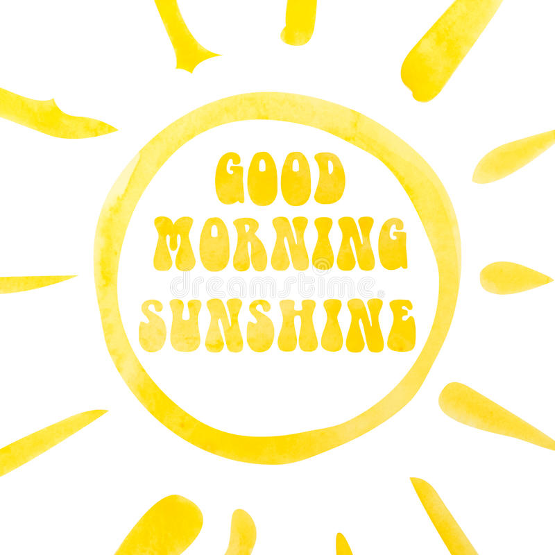 Good Morning Sunshine Download : Good morning sunshine lettering poster abstract