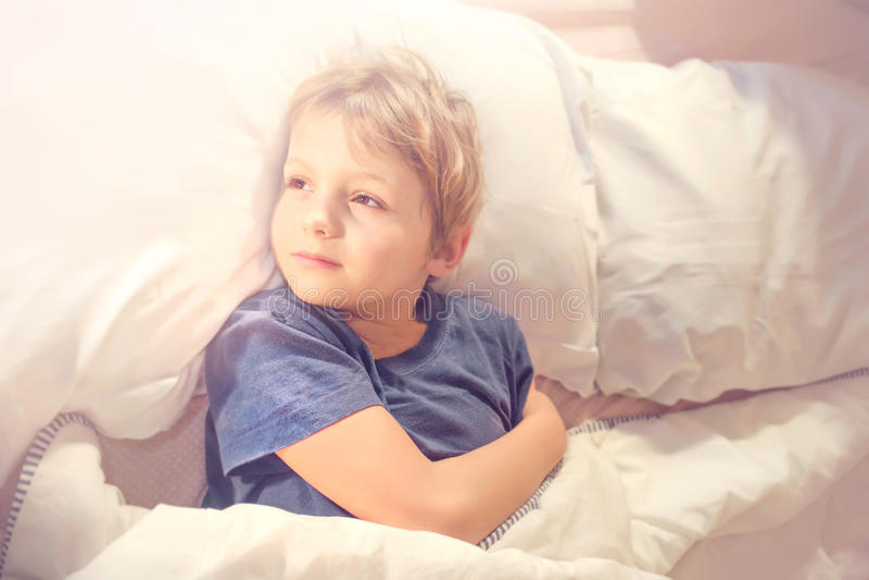 Good morning sweet boy. Still a bit sleepy royalty free stock photography