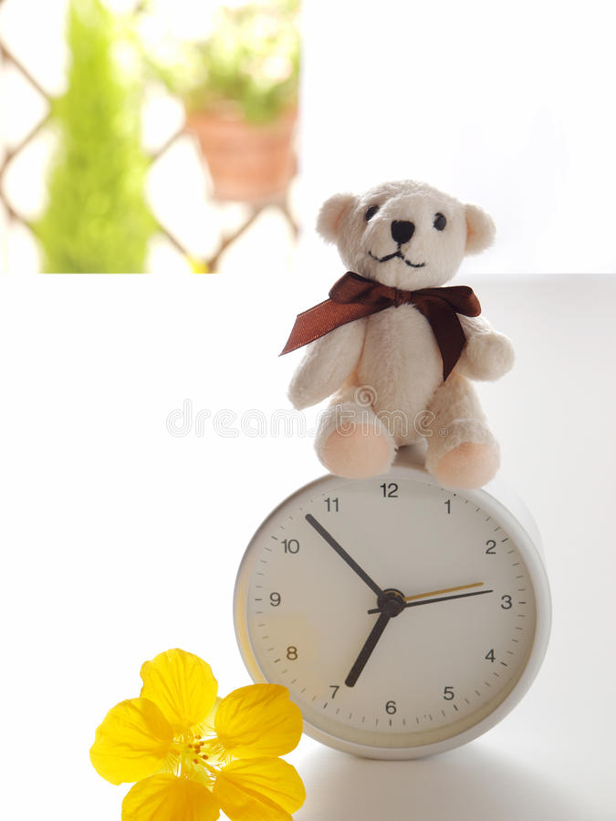 Good morning, teddy royalty free stock image