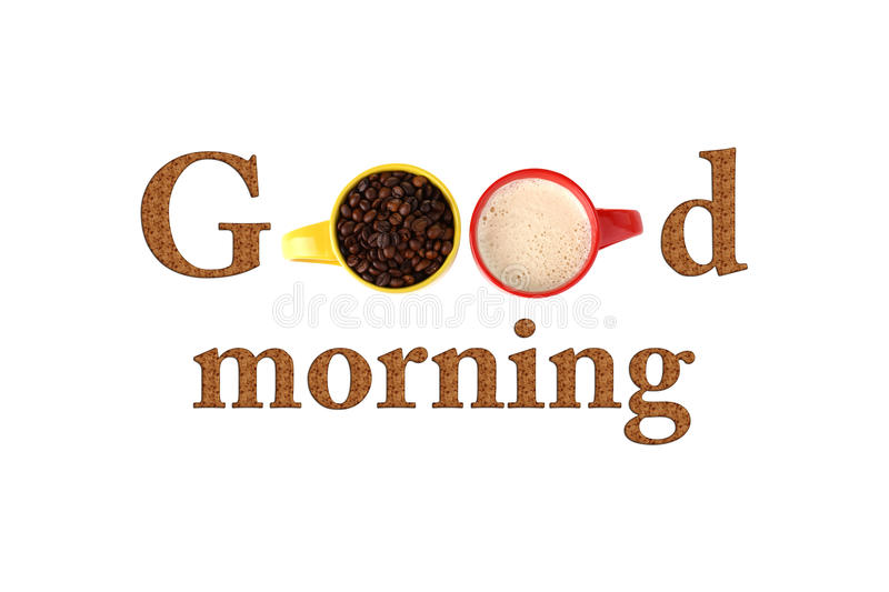 Good morning. Text good morning arranged in creative way royalty free stock image