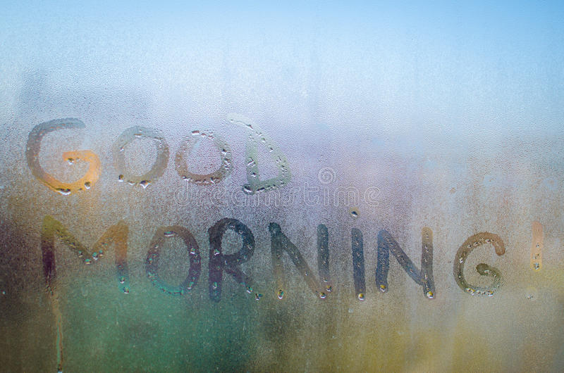 Good Morning text stock photo