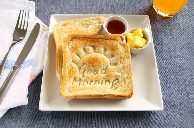 Good Morning Toast royalty free stock photography