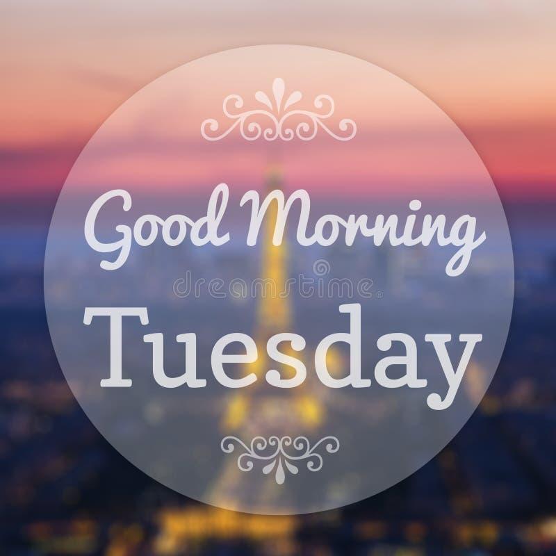 Good Morning Tuesday royalty free illustration