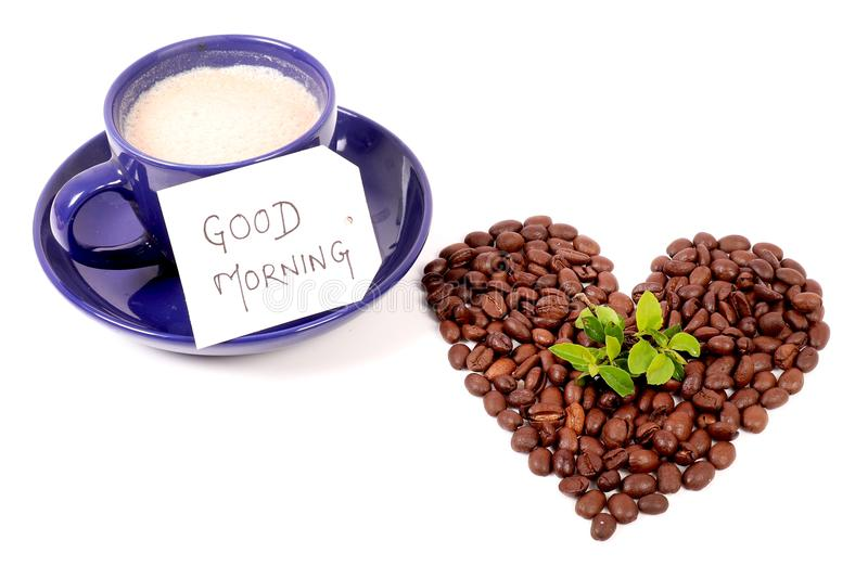 Good morning. A very good morning with freshly brewed coffee stock photos
