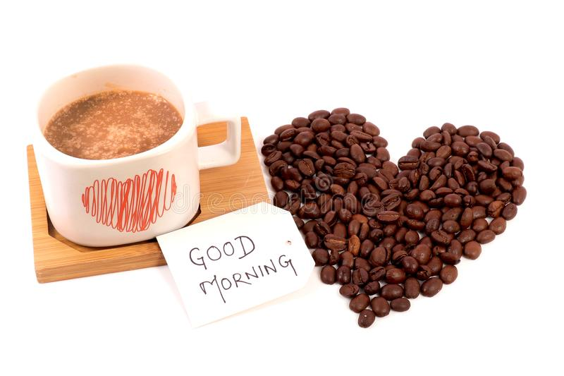 Good morning. A very good morning with freshly brewed coffee royalty free stock images