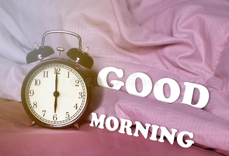 Good Morning and Wake Up Concept stock images