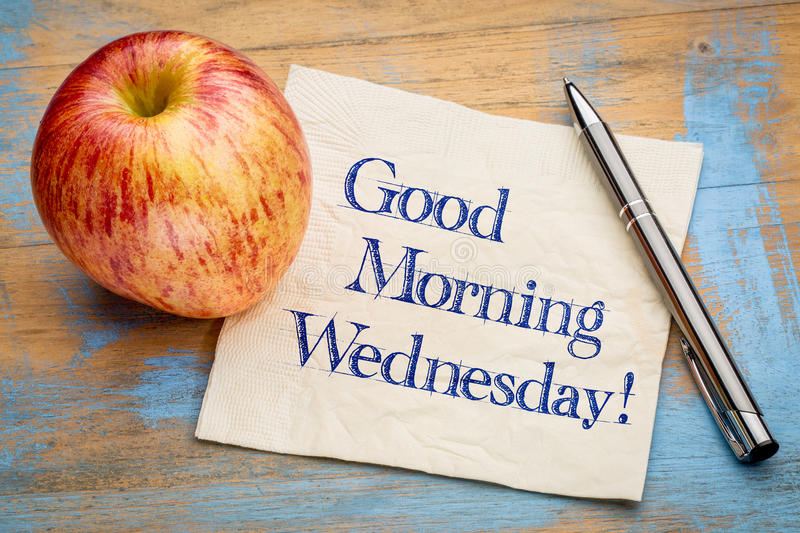 Good Morning Wednesday royalty free stock photo