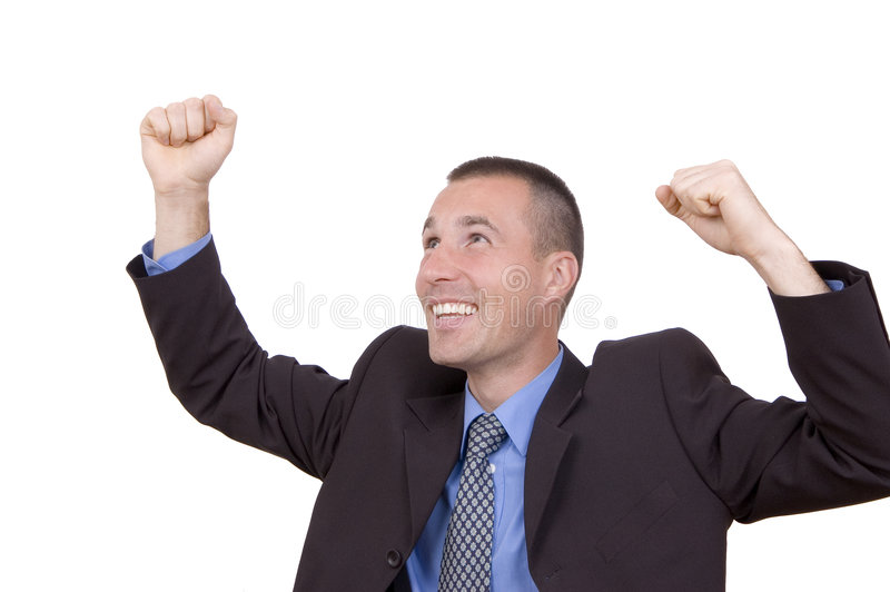 Download Good news! stock photo. Image of businessman, person, space - 1403424