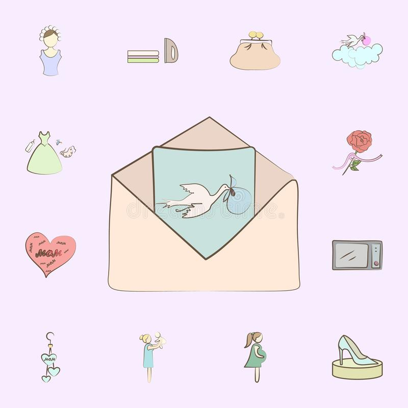 Good news baby born icon. mother icons universal set for web and mobile vector illustration