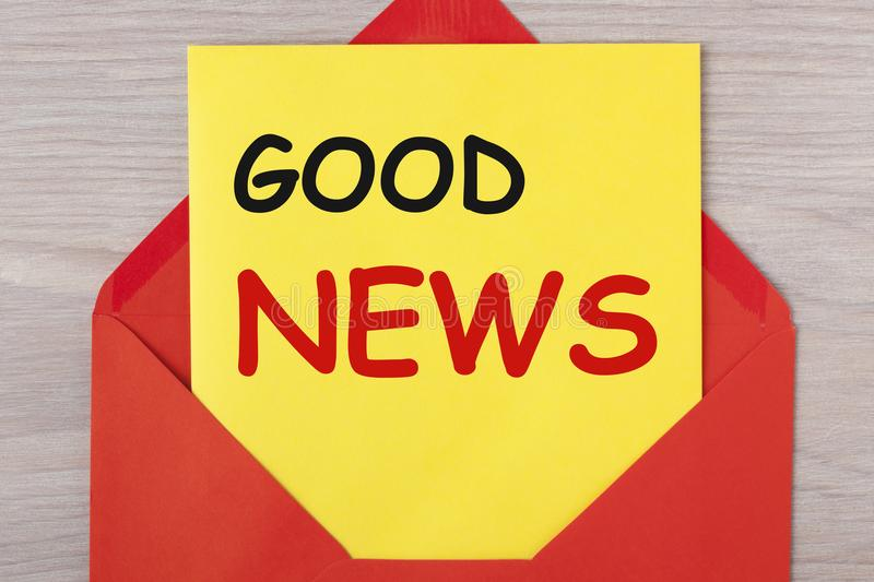 Good news concept stock images
