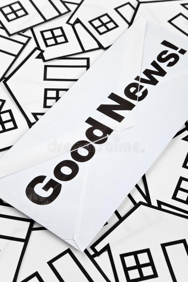 Good News and Home Sign stock photo