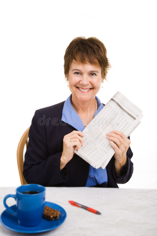 Download Good News in Newspaper stock image. Image of attire, classified - 8498435