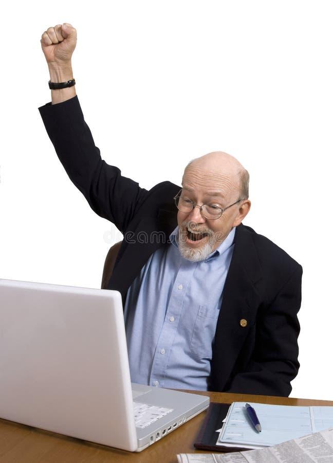 Download Good News for Seniors stock image. Image of internet, desk - 7634165