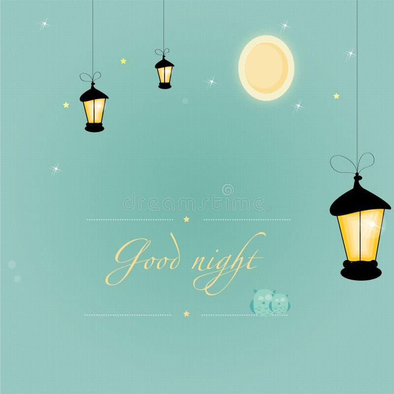Good_night ilustração royalty free