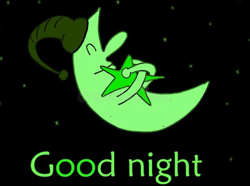 Download Good Night Illustration With Happy Moon Stock Illustration - Image: 6240681