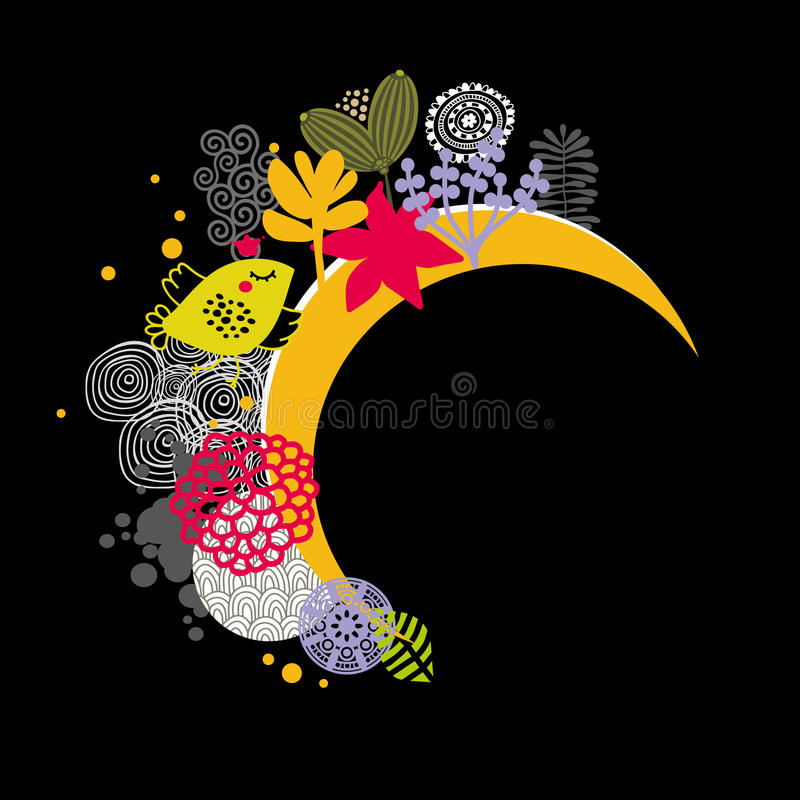 Download Good night banner. stock vector. Image of night, black - 34250334