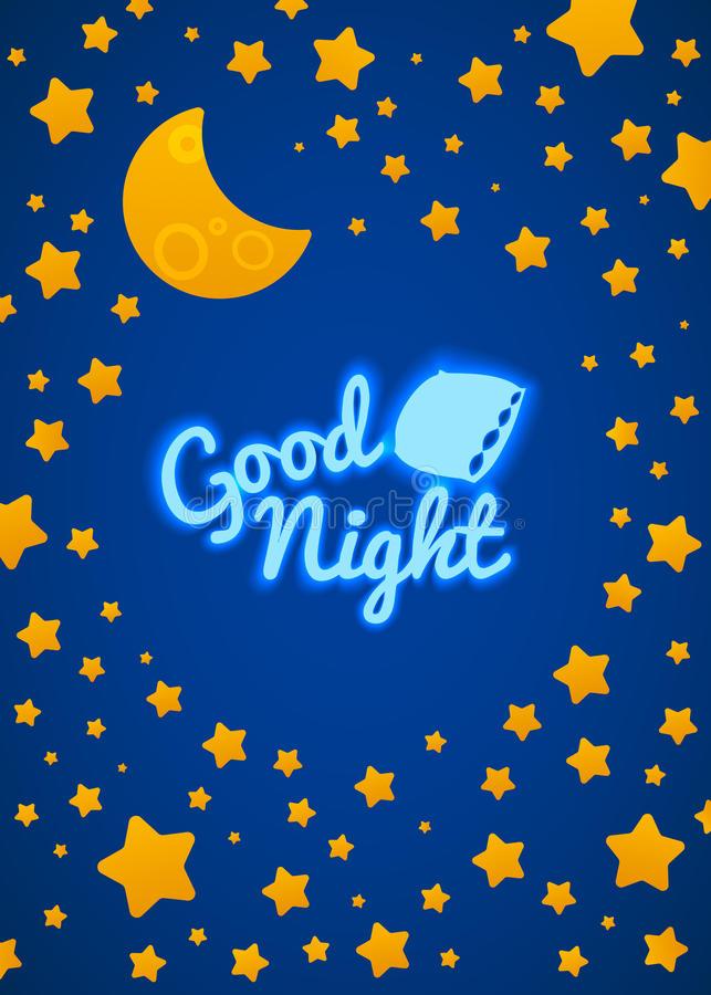 Good Night Bed Time Illustration Stock Vector