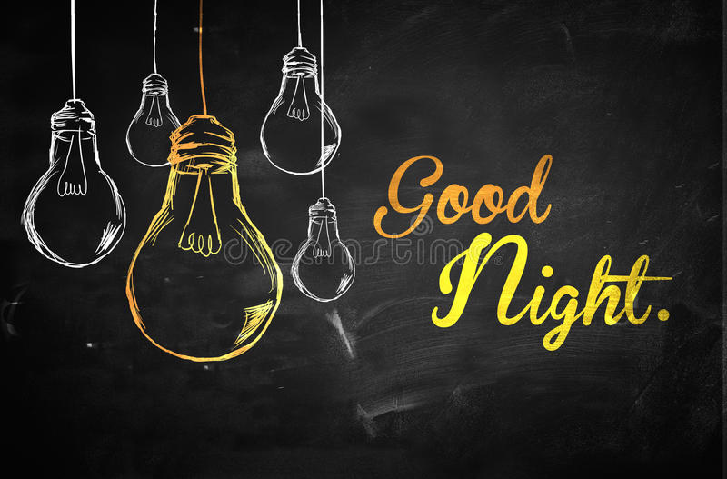 Good Night Bulbs Background vector illustration