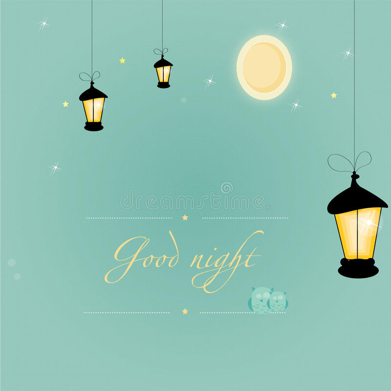 Download Good_night stock vector. Image of lovely, illuminated - 34117044