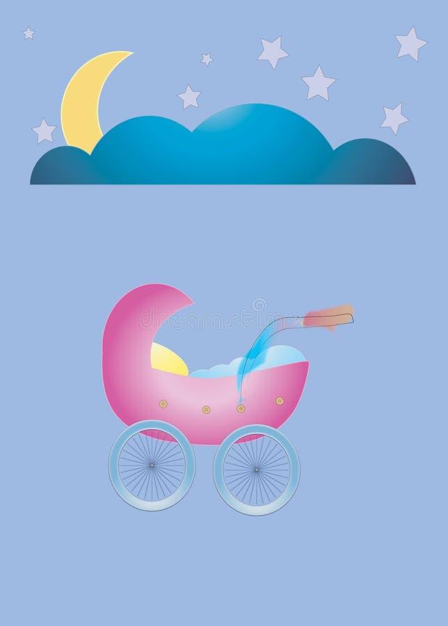 Download Good Night Cradle stock vector. Illustration of calm, night - 853121