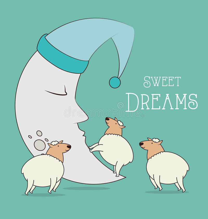 Good night design vector illustration