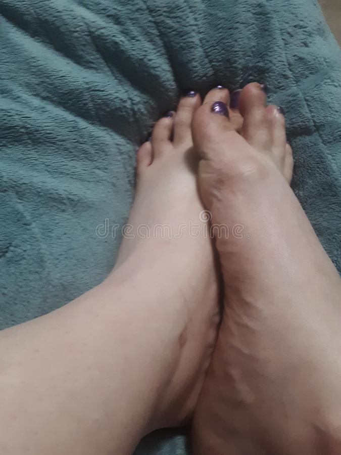Good night. Feet, fetish, foot stock image