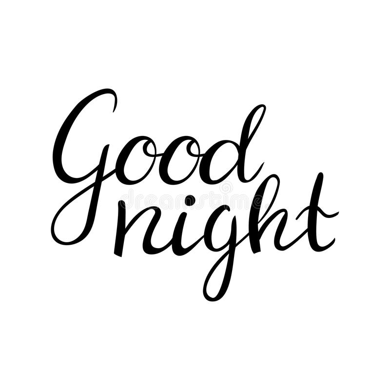 good night letter typography poster t shirt 21975