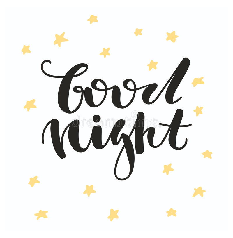 good night letter stock vector illustration of lettering floral 21975