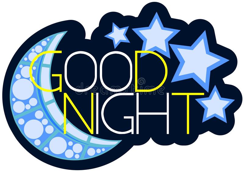 Isolated colorful Good night label vector illustration